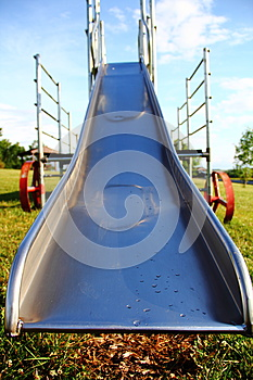 Metal Playground Slide Stock Photography - Image: 25309022