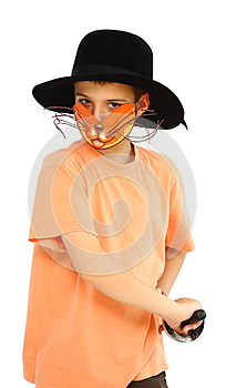 Boy With Cat-mask Stock Photo - Image: 25314490