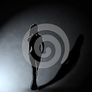 Girl In The Dark Royalty Free Stock Image - Image: 25340806