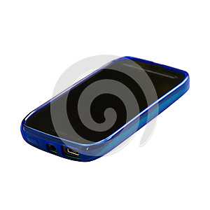 Blue Smartphone With Sleep Mode Screen Stock Images - Image: 25344144