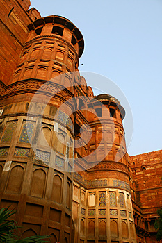 Outside Architecture Of The Red Fort Agra, India Royalty Free Stock Photography - Image: 25347867