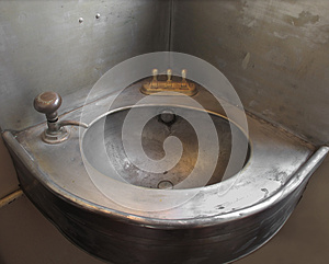 Old Corner Single Metal Sink. Royalty Free Stock Photography - Image: 25351797