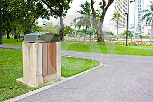 Public Rubbish Bin In A Park Stock Images - Image: 25353594