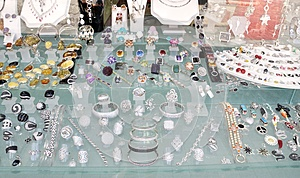 Golded Jewel In A Shop Royalty Free Stock Images - Image: 25354469