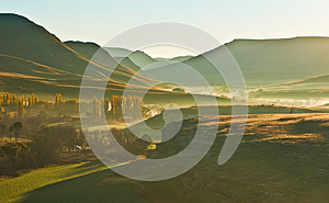 Sunrise In The Sun Valley Stock Image - Image: 25361551