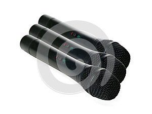 Microphones Isolated On A White Background Royalty Free Stock Photo - Image: 25361795