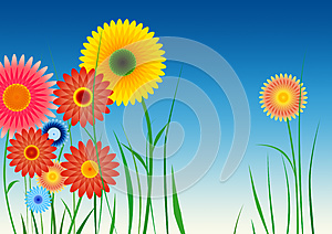 Spirograph Inspired Flowers Stock Photography - Image: 25365912