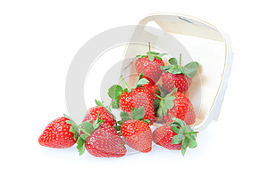 Sprinkled Strawberry From The Basket. Royalty Free Stock Photo - Image: 25367075