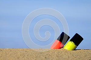 Lipstick On The Beach Stock Image - Image: 25373431