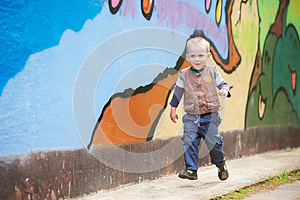 Cheerful Runner Kid Royalty Free Stock Image - Image: 25377366