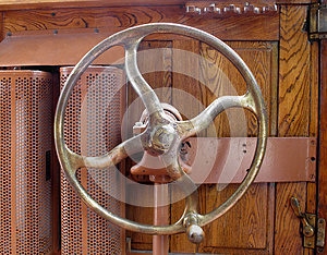 Old Metal Control Wheel With Knob Stock Photography - Image: 25379812