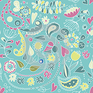 Pattern With Plants And Royalty Free Stock Photo - Image: 25384285