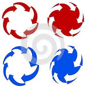 Arrows Logo Set Royalty Free Stock Photography - Image: 25393557