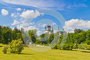 Park And Cathedral Stock Image - Image: 25395061