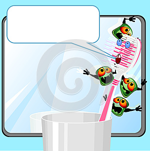 Toothbrush With Germs Royalty Free Stock Photography - Image: 25396527