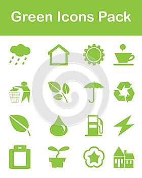 Green Icons Pack Royalty Free Stock Images - Image: 25396679