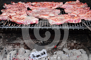 Meat On The BBQ Royalty Free Stock Photos - Image: 25397178