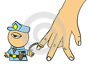 Caught By Hand Stock Image - Image: 25397791