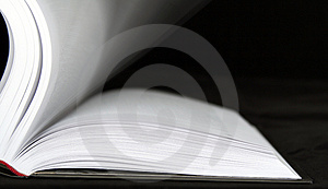 Book with moving sheets Royalty Free Stock Photo