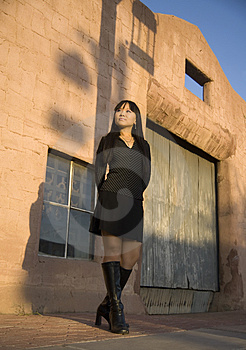 Fashion Model In Boots. Royalty Free Stock Photo - Image: 2543015