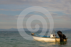 Anchored Boat Stock Image - Image: 25403841