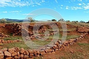 Pecos Ruin Walls Stock Image - Image: 25409501