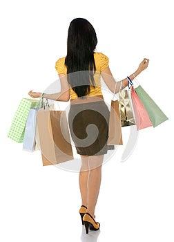 Asian Shopping Woman Stock Image - Image: 25411311