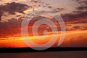 Sunset At The Lake Royalty Free Stock Photos - Image: 25412568