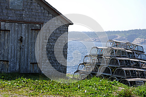 Lobster Pots Stack And Shack Royalty Free Stock Photography - Image: 25416767