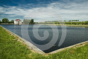 Pond In The Old Manor House. Stock Photography - Image: 25423622