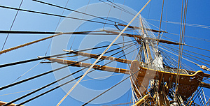Ship Mast And Ropes Stock Image - Image: 25430431