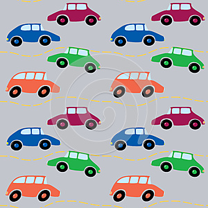 Cars Seamless Royalty Free Stock Photography - Image: 25434137