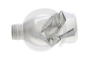 Crumpled Aluminium Bottle Stock Photo - Image: 25441860