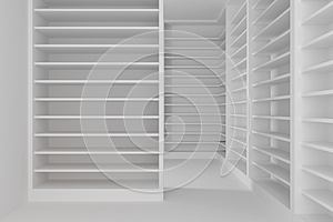 Shelves Room Royalty Free Stock Photography - Image: 25443627