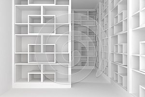 Shelves Room Stock Image - Image: 25443641