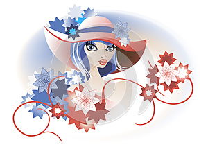 Retro Lady In A Hat Stock Photo - Image: 25445060