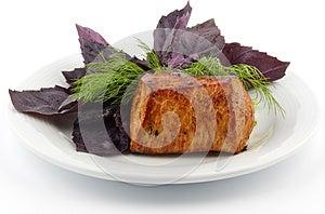 Spicy Roast Pork Tenderloin Stock Photography - Image: 25446092