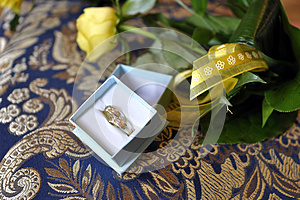 Wedding Rings And Flowers Landscape Stock Photos - Image: 25450343