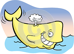 Happy Whale Royalty Free Stock Photos - Image: 25457858