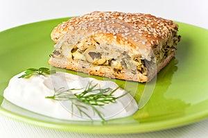 Aromatic Green's Pie Stock Photos - Image: 25460753