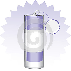 Drink Can With Tag Stock Image - Image: 25461291