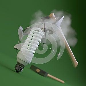 Fluorescent Light Bulb Stock Image - Image: 25465531
