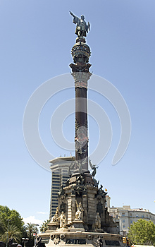 Spain, Barcelona. Monument To Columbus. Royalty Free Stock Photos - Image: 25465808