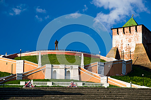 Chkalov Staircase Royalty Free Stock Images - Image: 25468849