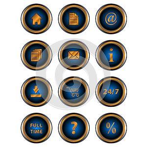 Big Set Web Of Icons Royalty Free Stock Image - Image: 25470216