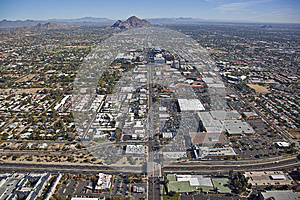 State Route 51 And Camelback Road Stock Image - Image: 25473941