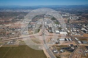 Interstate 10 And Loop 202 Interchange Stock Image - Image: 25474151