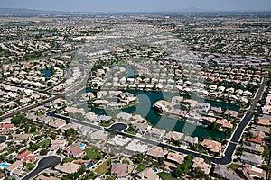 Suburbia On The Lake Stock Image - Image: 25474361