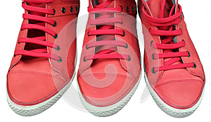 Three Red Shoes Stock Photo - Image: 25478060