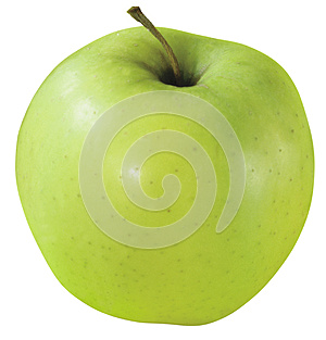 Appetite Green Apple Royalty Free Stock Images - Image: 25485269